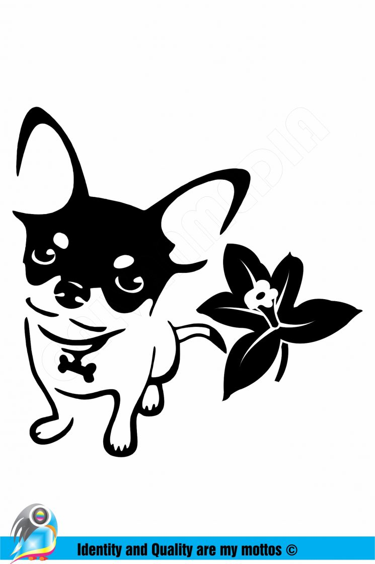 Chihuahua car decal